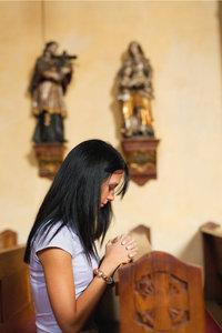 Kirchenbesucherin