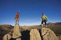 Kletterseil - Bergsteiger mit Kletterseil