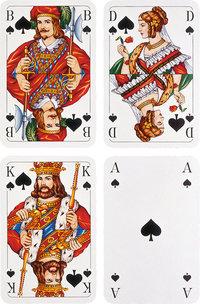 König - Bube, Dame, König und Ass