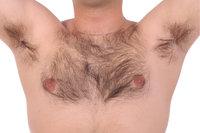 Körperhaar - Brusthaar eines Mannes