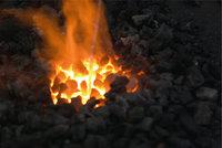 Kohle - Brennende Kohle