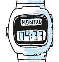Krone - Uhr mit Krone (links)