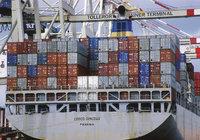Ladung - Schiff mit Containern als Ladung