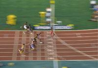 Läufer - Läufer bei einem Wettkampf beim Zieleinlauf