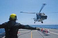 Landung - Hubschrauber bei der Landung