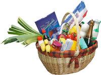 Lebensmittel - Korb mit Lebensmitteln