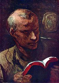 Leser - Künstlerische Darstellung eines Lesers