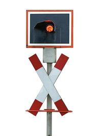Leuchtsignal - Leuchtsignal, wie es üblicherweise an Bahnübergängen zu finden ist