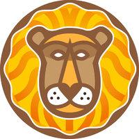 Löwe - Symbolische Darstellung des Tierkreiszeichens Löwe