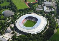 Luftbild - Luftaufnahme eines Fußballstadions in Hannover