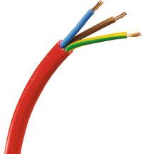 Mantel - Kabel mit rotem Mantel