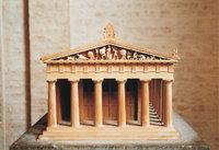 Modell - Modell eines Tempels
