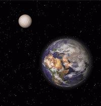 Mond - Erde und Mond (links oben)
