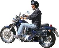 Motorradfahrer - Motorradfahrer auf einem Motorrad