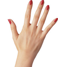 Nagel - Rot lackierte Nägel