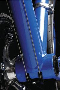 Nahtstelle - Schweißnaht an einem Fahrradrahmen
