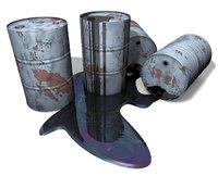 Öl - Fässer mit Öl