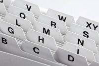 Ordnung - Alphabetische Ordnung