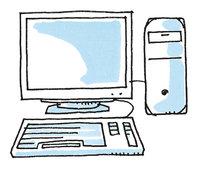PC - PC mit Bildschirm und Tastatur