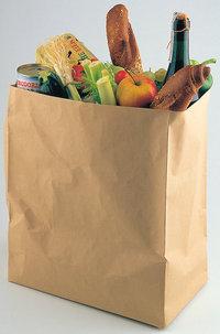 Papiertüte - Eine Papiertüte mit Lebensmitteln