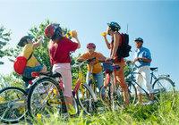 Pause - Pause bei einem Ausflug mit dem Fahrrad