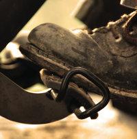 Pedal - Fuß auf einem Pedal