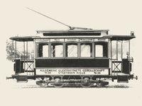 Plattform - Straßenbahn mit einer Plattform vorn und hinten