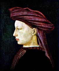 Profil - Profil eines Mannes auf einem Gemälde