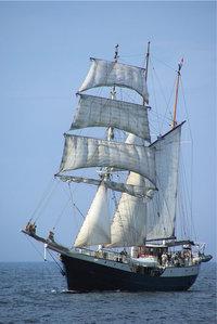 Rahsegel - Segelschiff mit Rahsegel