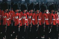 Reihe - Wachsoldaten in Reih und Glied