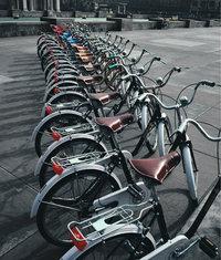 Reihe - Eine Reihe Fahrräder