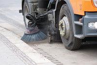 Reinigung - Reinigung einer Straße