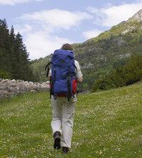 Reisender - Reisender mit Rucksack