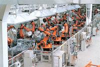 Roboter - Moderne Roboter beim Schweißen