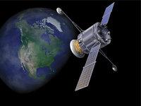 Satellit - Satellit und Erde