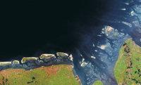 Satellitenbild - Satellitenbild der Ostfriesischen Inseln