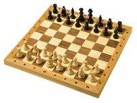 Schachbrett - Schachbrett mit Figuren