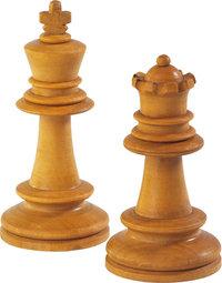 Schachfigur - Der weiße König (links) und die weiße Dame