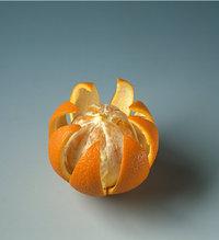 Schale - Orange mit aufgeschnittener Schale