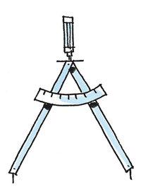 Schenkel - Zirkel mit zwei Schenkeln