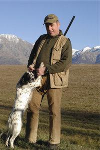 Schießhund - Jäger mit Schießhund