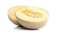 Schnittfläche - Schnittfläche einer geteilten Honigmelone