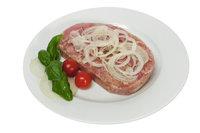 Schwartenmagen - Brot mit Presskopf und Zwiebeln
