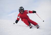 Schwung - Schwung eines Skiläufers
