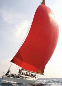 Segel - Boot mit rotem Segel