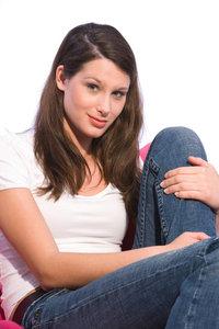 Seitenscheitel - Frau mit Seitenscheitel