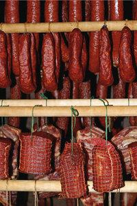 Selchfleisch - Selchfleisch und Salamiwürste