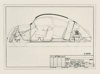 Skizze - Skizze eines Autos