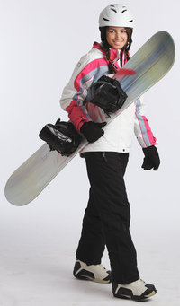 Snowboard - Frau mit Snowboard