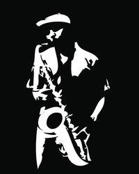 Solist - Schematische Darstellung eines Solisten mit Saxofon